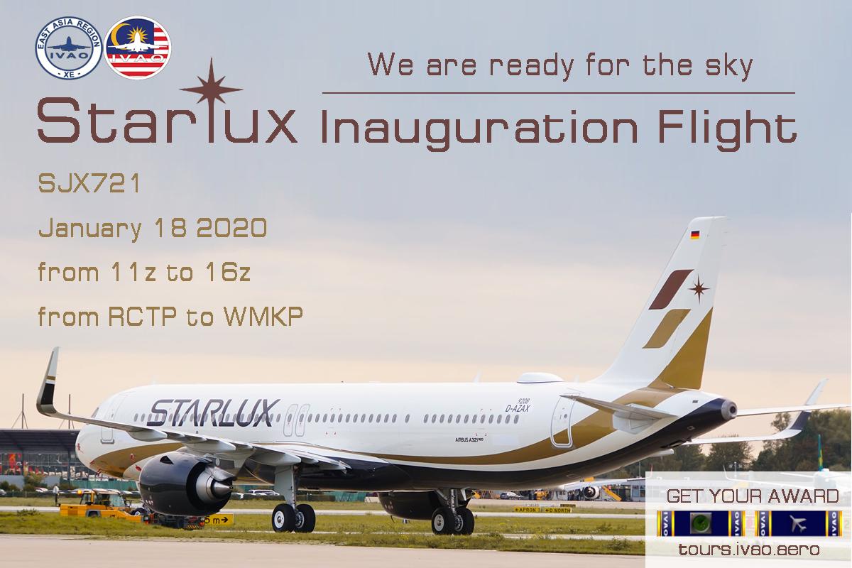 [XE+MY] Starlux Inauguration Flight